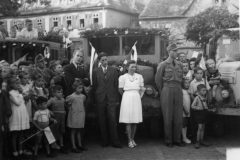 Ankunft auf dem Marktplatz 1947